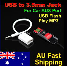 3.5mm Male AUX Audio Plug Jack to USB 2.0 Female Converter Cable Cord Play MP3