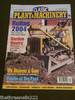 CLASSIC PLANT & MACHINERY - HARDEN QUARRY - DEC 2004