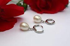 E061  Süßwasser Perlenschmuck Ohrringe Ohrstecker 925 Silber Creolen Ohrhänger