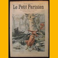 LE PETIT PARISIEN Supplément littéraire illustré Accident chasse 16 février 1902
