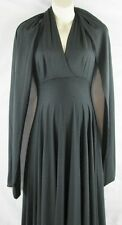 NWT Sche Hawaii Ladies Black Maternity Wrap Dress w/ Shawl Small $170