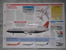 Aircraft of the World Card 25 , Group 2 - Lockheed L-1011 TriStar