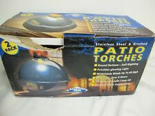 ROCKFORD TOOL PATIO TORCHES STAINLESS STEEL & BRUSHED 2 PACK