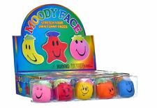 Funny Moody Face Squishy Moulding Stress Ball Emoji Kids Party Bag Filler Toy