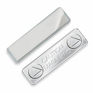 Lot of 10 Super Strong Name Tag Magnetic ID Badge Holder with Sticky Back
