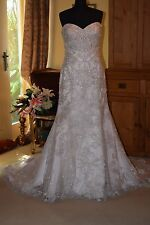 Essense Of Australia Wedding Dress D1869 Szie 20 Silver/Ivory /Champagne NEW!!