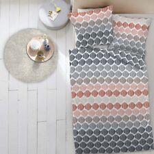 4 tlg. Dormisette Biber Bettwäsche 135x200 cm Kreise bunt Punkte 5084/090E9