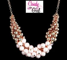 Pearl & Gold Bead Statement Necklace