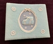 """BABY PHOTO ALBUM - Blue - Holds 200 4"""" x 6"""" Pictures"""