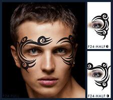European Body Art Tribal Eye Face Paint Stencil Template Airbrush Halloween Kids