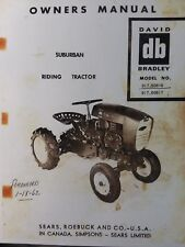 Sears David Bradley Riding Garden Tractor Owner Amp Parts Manual 91760616 Amp 60617