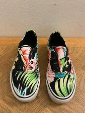 Vans Hawaiian Floral Hibiscus Print Classic Vans Size Men's 5 Womens 6.5 No Lace