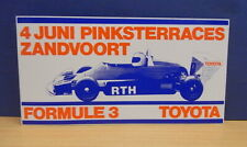 1x Sticker - Decal Toyota F-3 Zandvoort / RTH with org.back 80/90's (1402)