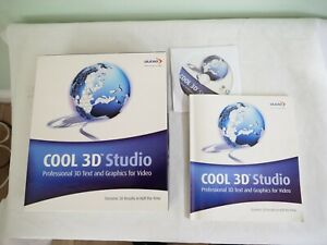 Ulead cool 3D studio boxed with DVD and Instructions for 3D titles for videos