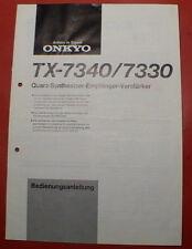 Orginal Bedienungsanleitung Onkyo TX 7330 / 7340 in deutsch (10 Seiten)
