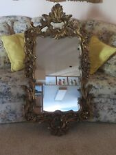Ornate Vintage Hanging Wall Mirror LARGE Hollywood Regency Style