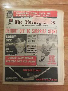 The HOCKEY NEWS Oct 27, 1972 Newspaper BOBBY ORR Returns to Action Boston Bruins