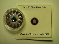 2011 Proof $3 Birthday December Zircon Birthstone Canada COIN&COA ONLY .9999 sil
