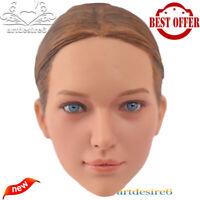 """KUMIK KM16-29 1/6 Scale Beauty Headplay Female Head Sculpt for 12"""" Figure Body"""
