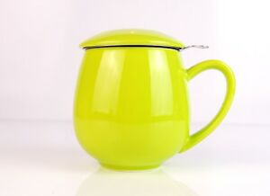 LIME TEA CUP AND INFUSER - LOOSE TEA ROOIBOS GREEN TEA BLACK TEA STRAINER OOLONG