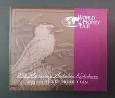 2015 Australia Kookaburra 1 oz Silver Proof in OGP + Box + COA - mintage 2500