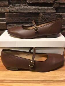Womens Size 9.5 M (MEDIUM) Brown Scoop Square Dance Shoes Vintage