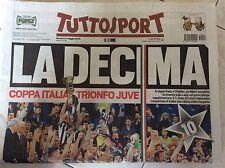 tuttosport Juventus vince la 10ª coppa Italia  Juventus campione d'Italia  nuova