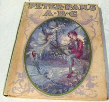 1913 Children's Book J.M. BARRIE Peter Pan's A.B.C. Illust. Flora White --NICE!