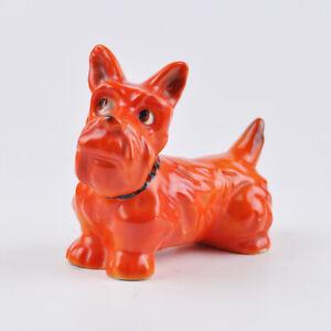 Scotch Terrier Figur - rot - Hund - CH 388 - Halsband - Dog - Vintage