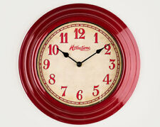 Retro Red Wall Clock Home Decor Kitchen Dining Room Living Space