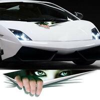 3D Peeking Women Scary Eyes Car Door Window Vinyl Decals Stickers 43*11cm