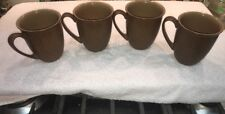 (4) Denby ENERGY CINNAMON mugs - Nice!
