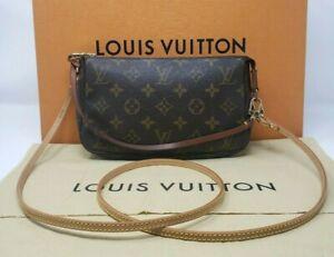 🤎🤍 Authentic Louis Vuitton Monogram Pochette Accessoires w/ Crossbody 🤍🤎
