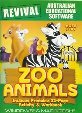Kids Pc Game - Revival (Australian Educational Software) - Zoo Animals