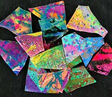 100 Metallic Multicolor Dark Glitz Mosaic Art Glass by Makena Tile
