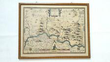 Antike Karte - Kupferstich koloriert - Johannes Gigas - Fürstabtei Corvey 1620