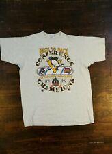 Vintage 1992 Starter Pittsburgh Penguins Back To Back Champions Shirt Size XL