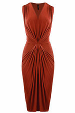 Calf Length Patternless Unbranded Formal Dresses for Women
