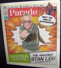 10/23/16 Parade Newspaper INSERT Stan Lee Marvel Comics Superheroes Star NEW