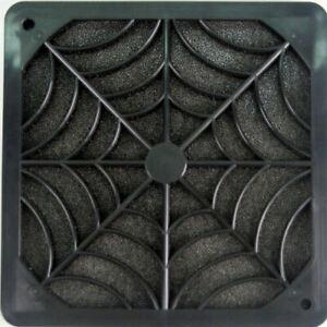 EverCool FGP-120 120mm Plastic Fan Filter & Grill, Black