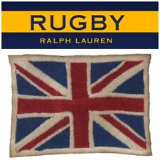 RRL Ralph Lauren Rugby Great Britain Flag Distressed Fashion Cotton Patch