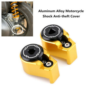 2PCS Motorcycle Shock Absorber Spools Slider Stand Screws Bolt Anti-theft Cover