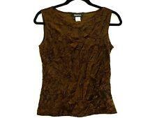 Baranda Brown Crinkle Stretch Tank Top Women's Size Medium