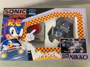 Nikko SONIC THE HEDGEHOG R/C CAR Sega Collectible Complete Vintage Rare *READ*