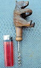 ancien tire-bouchons ours en bois sculpté foret noire