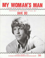 My Woman's Man - Dave Dee - 1970 Sheet Music