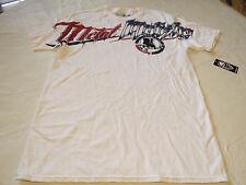 Metal Mulisha mens L lg Hardcore Bealls-SMU white t shirt Moto MM TEE NWT*^