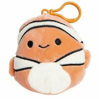 Squishmallow Kellytoy Sea Life 3.5 Inch Clip-On Ricky The Clownfish- Super So...