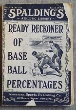 1905 Spaldings Baseball Percentages ( Plus 49 Pages of Baseball Ads )