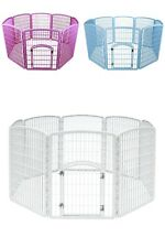 "NEW Puppy Dog Pet Play Pen Kennel Cage Gate Fence Plastic 63"" x 63"" x 34"" SEALED"